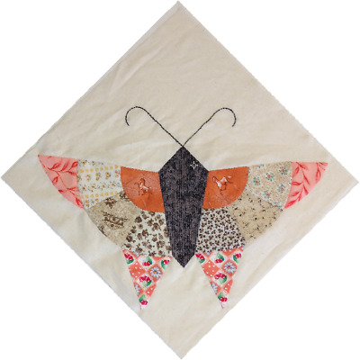 BUTTERFLY 60 INCH Quilt Block Pattern Template Paper Piecing From Simple 12 Inch Quilt Block Patterns