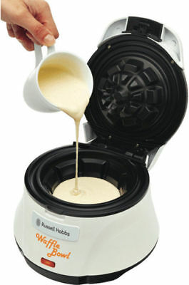 =$53=5%OFF!= NeW Russell Hobbs RHWM1 Waffle Bowl Maker Cooks in 3 Mins Non-Stick