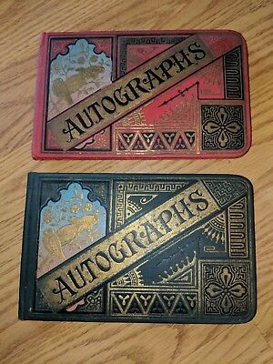 2 Antique Victorian Autograph Albums New Old Stock Blank