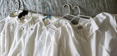 6 White Clergy Albs for Liturgical Use - approx. size Large
