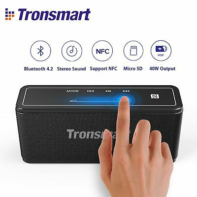 Tronsmart Mega Bluetooth 4.2 40W Bluetooth Speaker with 15-Hour Playtime, TWS,
