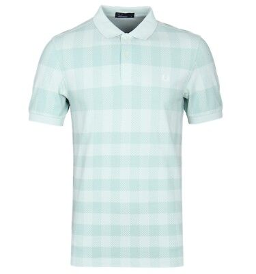 Fred Perry Gingham Print, Pique Polo M3558,Mint,Mod,Soul,Ska, Scooter