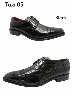 Men's Dress Shoes Lace Up Tuxedo Wedding Oxfords Formal Italy Patent Party