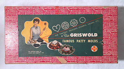 Vintage GRISWOLD Famous #2 Patty Molds Set with Box with Recipe