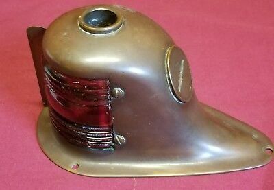 PERKO Green & Red Brass Vintage Nautical Ship Teardrop Boat Light steampunk