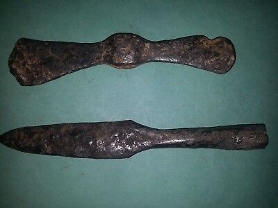 Viking  Collection of ancient weapons.Metal detector finds 100% original