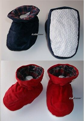 Baby Booties 6 12 18  months girl boy corduroy non-slip dots padder slipper shoe