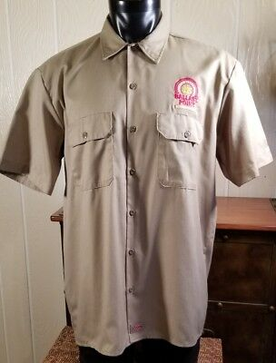 BALLAST POINT BREWING & SPIRITS DICKIES WORK SHIRT Khaki ~ Short Sleeve ~LG