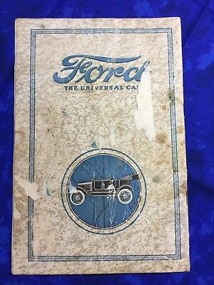 Ford The Universal Car 1916-1917 Informational Brochure Vintage Auto Advertising