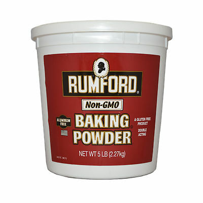 Rumford Gluten & Aluminum Free Double Acting Baking Powder 5lbs (PACK OF 6)