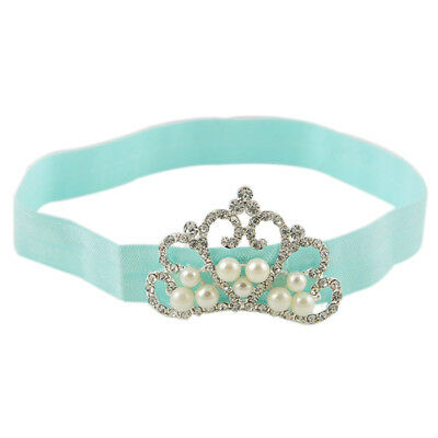 1Pc Baby Kids Infant Toddler Girl Princess Crown Pearl Headband Hairband Ha W4C8
