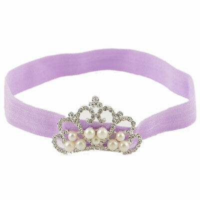 1Pc Baby Kids Infant Toddler Girl Princess Crown Pearl Headband Hairband Ha O6Z3
