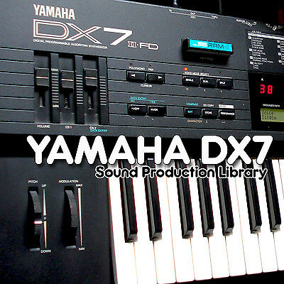 Yamaha DX7 - Ideal Original Sound Welle / Kontakt Proben Bibliothek auf DVD