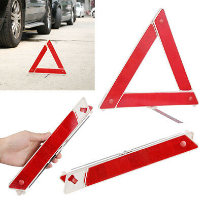 Hazard Stop Sign Warning Triangle  Car Emergency Breakdown Red Reflective