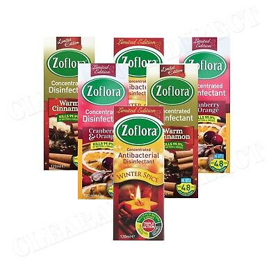 6 x 120ml ZOFLORA CHRISTMAS WINTER DISINFECTANT LTD EDITION USED BY MRS HINCH