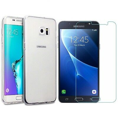 Clear Case Cover for Samsung Galaxy J7 Pro Prime Core & glass screen protector