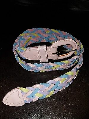 Baby Girl Leather Belt Multicolor Braid 02-32930 2T-4T