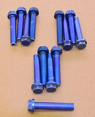 used OEM Yamaha TZ Head Bolts, blue 700, 750 250, 350 65 mm