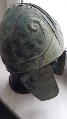 Antique helmet Roman bronze helmet (perfect) Metal detector finds 100% original