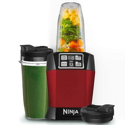Nutri Ninja 1000W Blender With Auto-Iq Red Smoothie Maker Mixer Fruit Ice Shaker