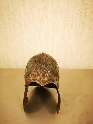 Antique helmet Chalcidian helmet . Metal detector finds 100% original