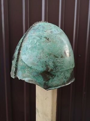 Antique helmet  Sarmatian  bronze helmet  Metal detector finds 100% original