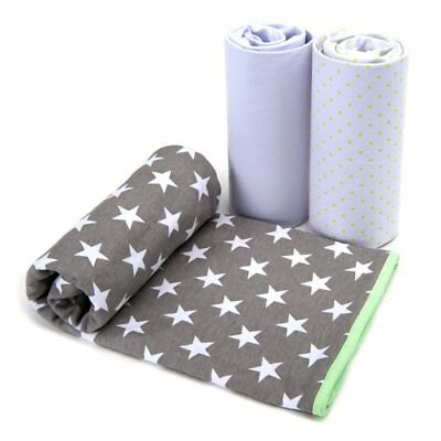 Baby Cot Bed Sheets Crib Bedding - 2 Soft Jersey Cotton Fitted Sheets, 1 Blanket