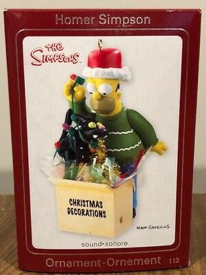 carlton cards heirloom collections homer simpson christmas decorations ornament
