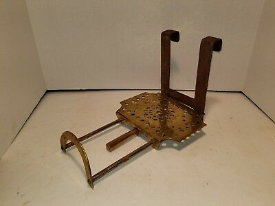 Antique English Brass & Iron Fireplace or Stove Hanging & Sliding Trivet