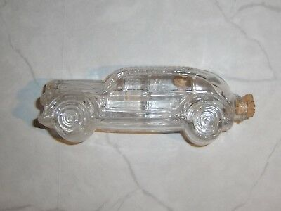 CAR Bottle Candy Container Glass Classic T H Stough Co Glass antique old vintage