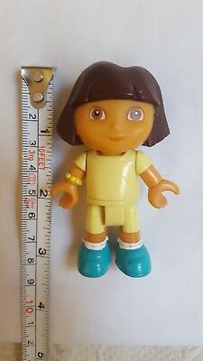 """Disney 3"""" Dora the Explorer yellow outfit toy Figurine Pre-owned cake topper"""