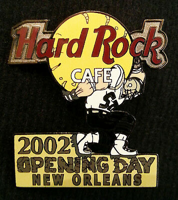 Hard Rock Cafe HRC 2002 NEW ORLEANS Saints Opening Day Football Pin (Ltd Ed 300)