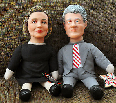 Hillary and Bill Clinton Collectible Star Sacks Beanie Dolls - Limited Edition