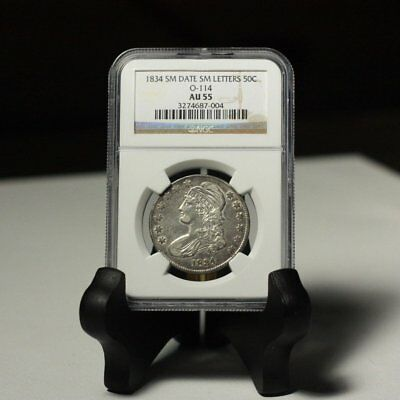 1834 Capped Bust Half Sm Date Sm Letters O-114 NGC AU55 *Rev Tye's* #7004367