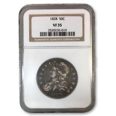 1828 Capped Bust Half Dollar NGC VF35 ***Rev Tye's Stache*** #6010160