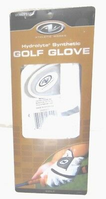 ATHLETIC WORKS womens left size large golf glove new in package          YV5