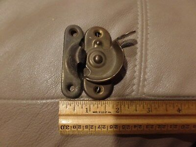 1 Vintage Antique brass Window Sash Lock & keeper 40s/50's