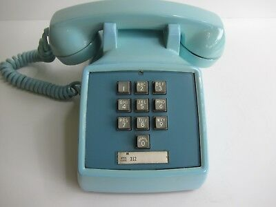Antique Western Electric  telephone  1500  touchtone  10 button in Aqua