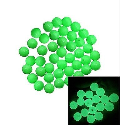 1000 Green Round GLOW IN THE DARK Acrylic Spacer Beads for Craft Fishing Tackle
