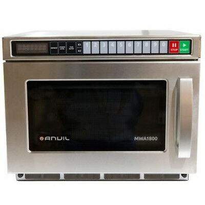 Anvil 1800W Commercial Microwave with Programmable Pads & Ceramic Base MWA1800