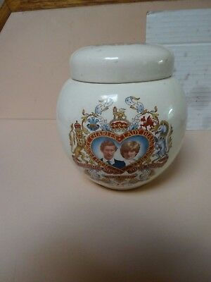Royal Wedding tea caddy .Prince Charles & Lady Diana Spencer .Sadler