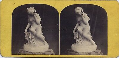 Photo of a sculpture Psyche Expo Paris 1867 ? Stereo Vintage