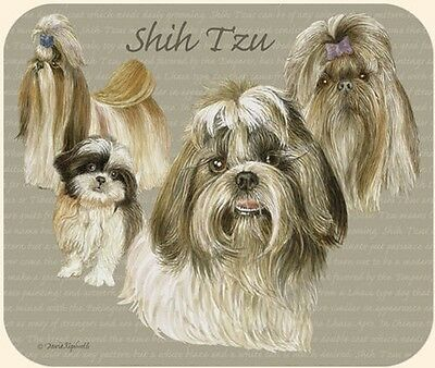 Puppy Lovers Designer Computer Mouse Pad - Shih Tzu   Made In The U.s.a.  New