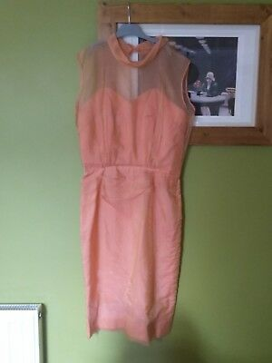 Late 50s/early 60s Rose Gold Cocktail Dress Madmen Excellent Condition Size 10