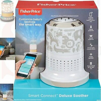 Fisher-Price Smart Connect Deluxe Soother Nursery Décor Night Lights SongsSounds