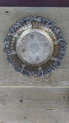 Antique Silver on Copper Plate Old English Reproduction B.P.  B.M. Mounts #2573
