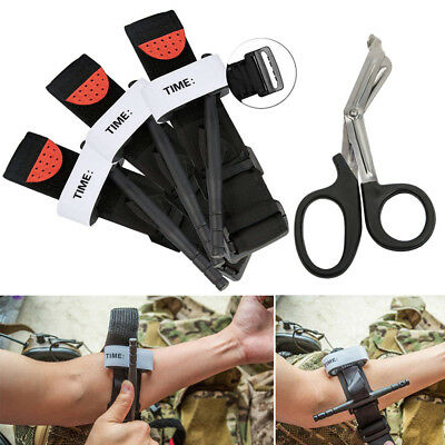 3pcs Military Army Red tip Tourniquet unwrapped Israeli Bandage Gloves First Aid
