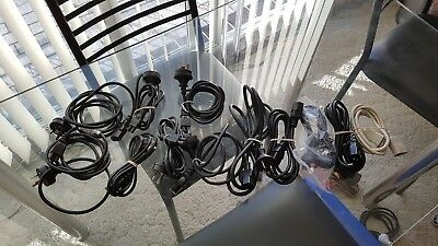 12 x AC PC Computer Power Cord Cable Leads And Extenders - Free Postage