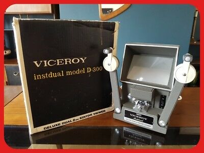 Viceroy Instdual Model D-300 Deluxe Dual 8mm Editor Viewer Made in Japan
