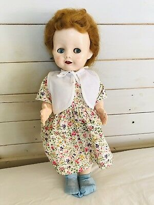 Sweet 21 walker Hard Plastic Pedigree Doll with original saran hair